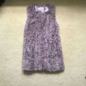 faux fur vest with DEEP pockets